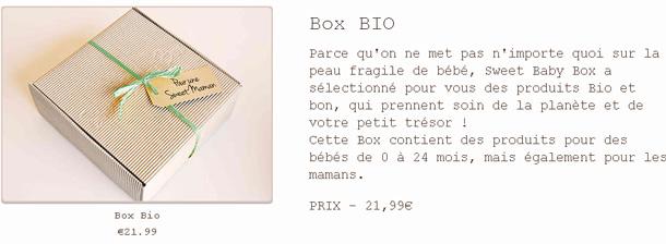 Box Bio de Sweet Baby Box