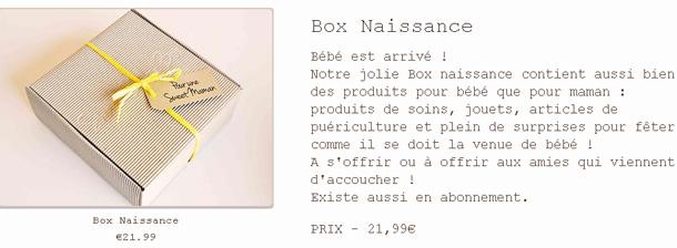Box Naissance de Sweet Baby Box