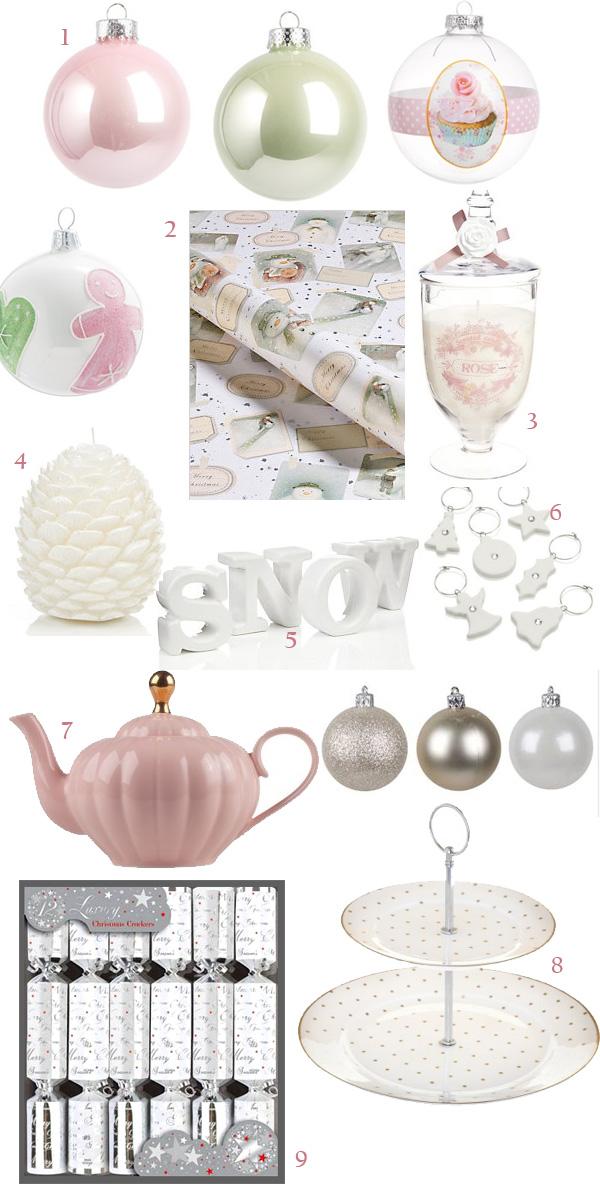 Décorations de Noel pastelles